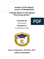 Documents.tips Term Paper an Analysis of Export Performance of Bangldesh