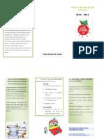 Folheto - Plano Nacional de Leitura 2010-2011