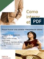 Conferencia Como interprestar la biblia.ppt