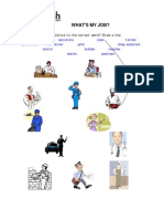 Vocabulary Activity - Jobs (Unit 8)