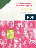 Audre Lorde, La Hermana, La Extranjera
