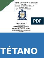Tetanos - HISTORIA NATURAL