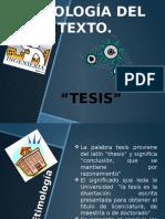 Tipología Del Texto Tesis