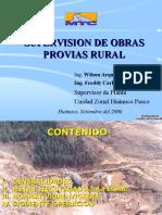 Supervision de Obras Provias Rural