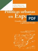 Políticas Urbanas en España Subirats Subrayadao