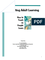 Facilitating Adult Learning