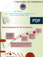 Metodos de purificación de biomoleculas y otras técnicas usadas en biologia celular