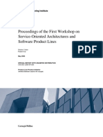 Proceedings of the First Workshop on Service-Oriented Architectures and Product Lines