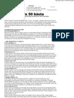 Gefle Dagblad 2009-12-31 - Gästriklands 50 bästa idrottsmän 2009
