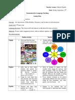Communicative Language Teaching Lesson Plan