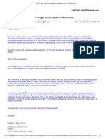 OHRP Response to Complaint About David Adson and IRB Oversight at University of Minnesota