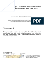 Jetty Construction Planning at Southern Manhattan, New York, USA