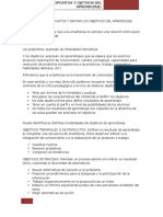 Clasificar Los Propositos y Definir Los Objetivos Del Aprendizaje Segun Davini