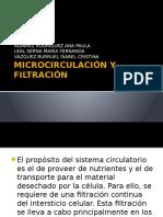 Microcirculación y Filtración