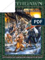 Earthdawn Collectors Checklist