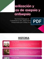 Esterilización y Técnicas de Asepsia y Antisepsia