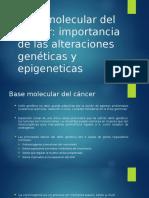 Base Molecular Del Cáncer
