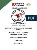 Ta- Costos y Presupuestos- Paola Lucero Salazar de La Cruz