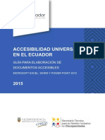 Accesibilidad Universal en el Ecuador. Guía para la elaboración de documentos accesibiles