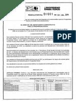 10269 Resolución 1601 - Distribución de Cargos de La Planta Global DPS