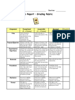 Lab Report - Grading Rubric