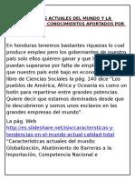 CARACTERISTICAS ACTUALES DEL MUNDO Y LA DEFENZA  DE LOS CONOCIMIENTOS APORTADOS POR LA HUMANIDAD.docx