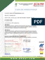Certificado Gps