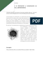 Tecnologías de La Información y Comunicación en Ciencias Contables y Administrativas