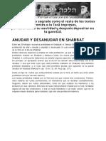 ANUDAR Y DESANUDAR en SHABBAT _ Halajá Diaria Según La Opinión de Marán Rabí Ovadiá Yosef ZT_L