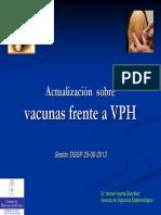 Actualizacion Sobre La Vacunacion de VPH 2013