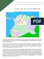 El Virreinato de La Nueva Granada