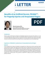 Benefits of Artificial Dermis PELNAC for Finger Injuries