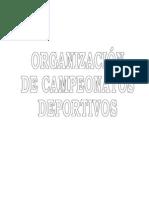 ORGANIZACION DE CAMPEONATOS