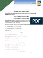 Distribuciones Bernoulli y Binomial