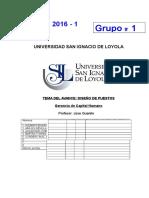 AVANCES DEL TRABAJO FINAL Instrucciones Gerencia Capital Humano 2016-1
