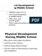 physical development during middle school
