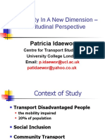 Accessibility and Attitude in Transport