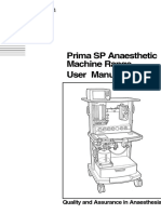 Penlon Prima SP Anaesthesia Machine - User Manual