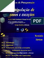 Manipulação de Erros e Exceções (Slide)