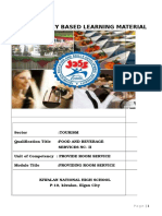 Food and Beverage Service- Module  Author