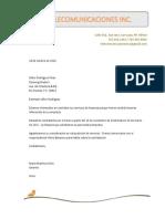 Carta Solicitud de Servicio