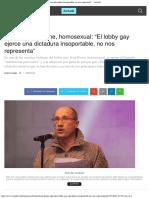 Jean Pier Delaume, Homosexual_ _El Lobby Gay Ejerce Una Dictadura Insoportable, No Nos Representa_ - Actuall
