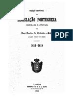 ANDRADE E SILVA, José Justino. Coleção Chronologica Da Legislação Portuguesa. 1613 à 1619.