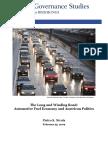 Fuel Economy and Us Politics