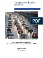Fuel Economy and Us Politics