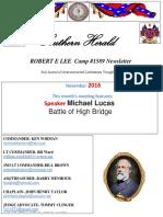 Newsletter R E Lee 1589 11/3016