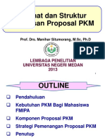Strategi Penulisan Proposal PKM 2013 (Manihar)