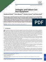 Estrategias de Mantenimiento y Modelo Costo Falla