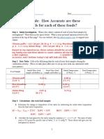 sequence guide - soda can calorimeter  student sample