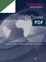 Desautels BCom Brochure 2009